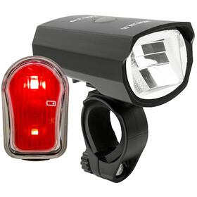 Litecco Highlux.50 + Cando zestaw oświetlenia rowerowego, black/red